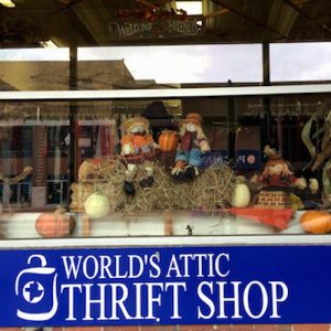world's attic thrift shop vintage clothing
